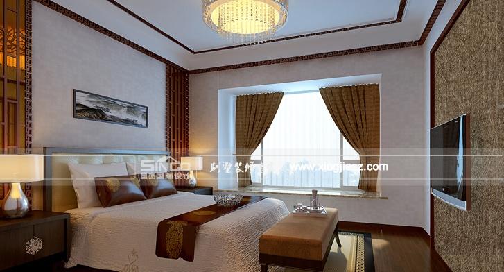 整体使用的是中式,女孩的房间单独欧式的设计.&nbsp
