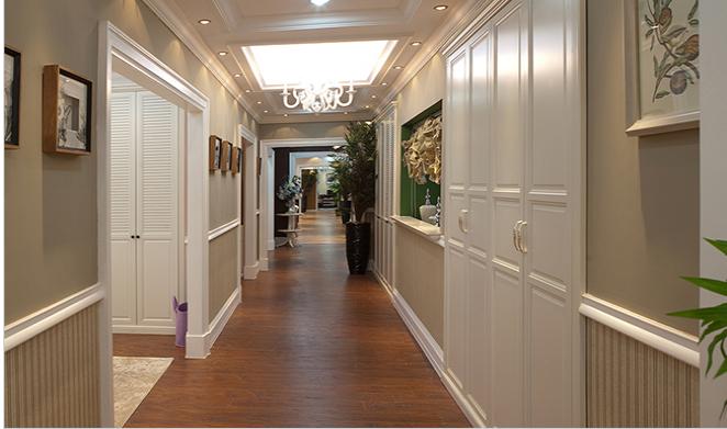 玛格定制家具简约欧式卧室白木纹实木衣柜