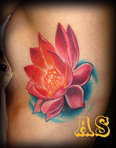 纹身图案参考--- 荷花纹身图案