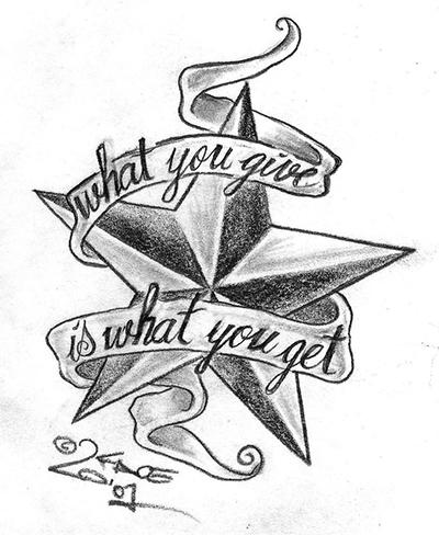 五角星纹身图案