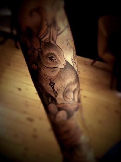十二生肖之【兔子纹身】