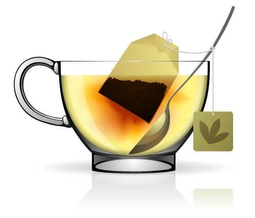 一壶茶矢量图