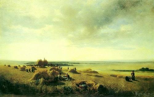 库茵芝是俄罗斯著名的抒情性风景画家,他善用微妙的色彩变化,表现